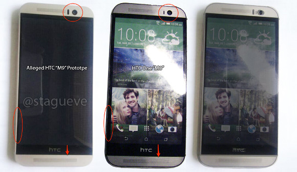 Spy pic of HTC Hima, stay next to HTC M8