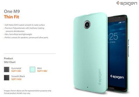 Updated: HTC One M9's New cases of Spigen
