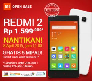Xiaomi Redmi 2 dan Xiaomi MI Pad buka penjualan Indonesia mulai Hari ini !