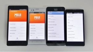 Pertempuran anggaran Android : Huawei Honor 3C vs Redmi Note vs Xiaomi Redmi 1S vs Asus Zenfone 5