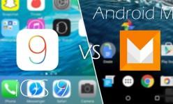 Perbandingan Tampilan Android 6.0 Marshmallow Vs Apple iOS 9